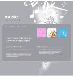 website template with notes vector image