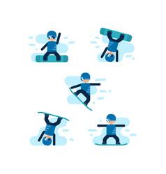 winter games snowboarding vector image vector image