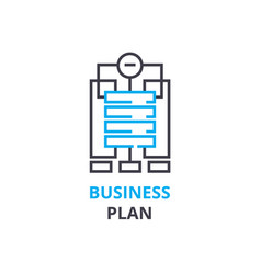 business plan concept outline icon linear sign vector image vector image