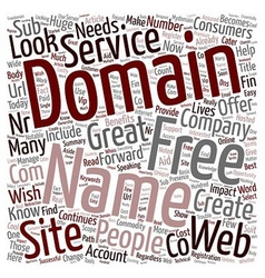 Domain Name Free Services Where To Get Them text vector image vector image