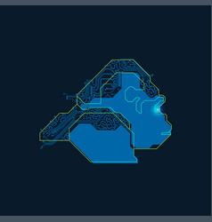 electronic gorilla vector image vector image