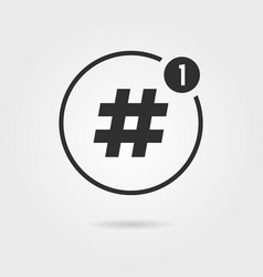 hashtag icon with notification vector image