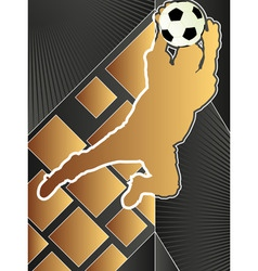 sport poster series soccer vector image vector image