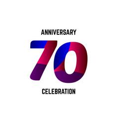 70 year anniversary celebration logo template vector