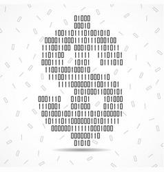 abstract sign dollar binary code logo vector image