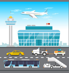 Airport infographic elements vector