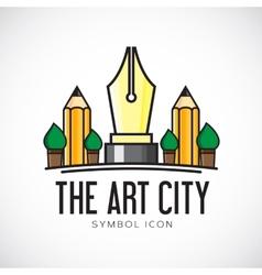 Art City Concept Symbol Icon or Logo Template vector