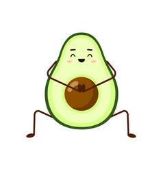 avocado character design avocado yoga vector image