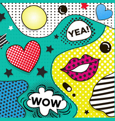 Background in pop art style trendy comic vector