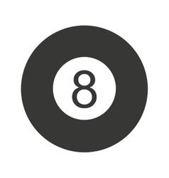 Ball number eight billiard icon vector