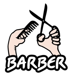 Barber sign vector