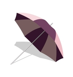 beach umbrella with shadow isolated on vector image