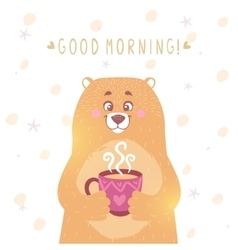 bear tea vector image