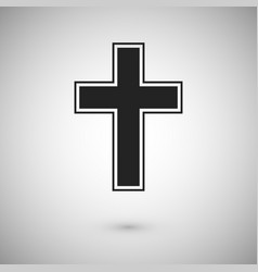 black cross with stroke symbol and sign vector image