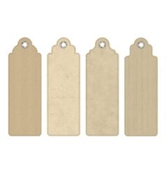 Blank Vintage Cardboard Tags vector image