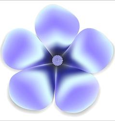 Blue gentle flower natural vector