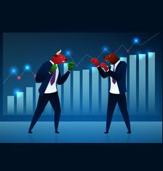 businessmen investors cartoon characters vector image