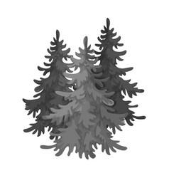 Canadian spruce canada single icon in monochrome vector