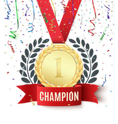 Champion winner number one background template vector image