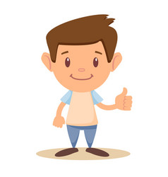 Child thumbs up vector