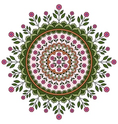 Circle mandala pattern vector