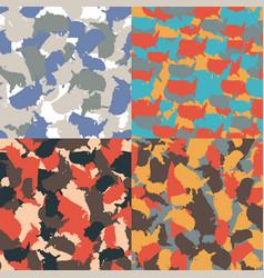 colorful america urban camouflage set usa vector image