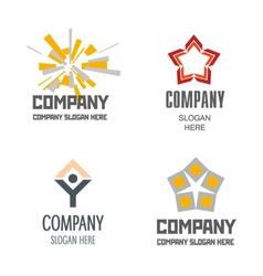 Construction of abstract logos vector