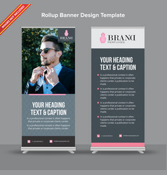 corporate dark and light grey rollup banner vector image