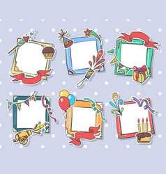 creative birthday frames vector image