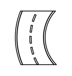 Curve road isolated icon vector
