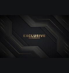 Dark abstract background with luxurious gold color vector