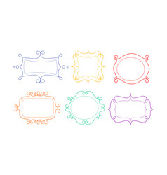 decorative frames of different shapes with space vector image