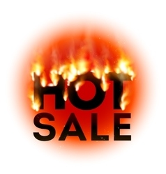 Design with Fire Hot Sale vector