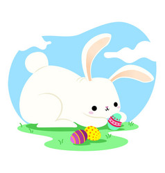 Easter bunny image vector