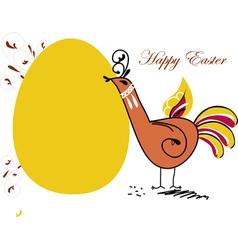 Easter chicken in folk paintings vector