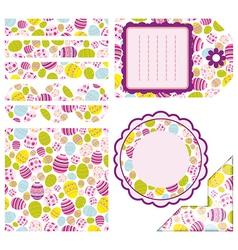 Easter set of design elements vector