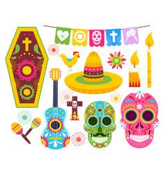el dia de muertos mexican day dead vector image