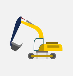 excavator heavy vehicle transport graphic vector image