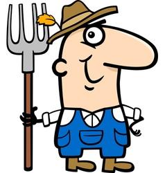 farmer cartoon vector image
