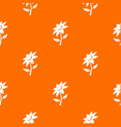 flower pattern orange vector image