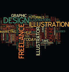 freelance text background word cloud concept vector image