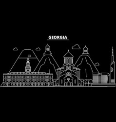 Georgia silhouette skyline georgia city vector