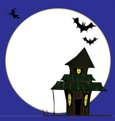 Halloween cottoge vector
