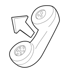Handset icon outline style vector