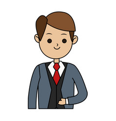 Handsome man in suit icon image vector