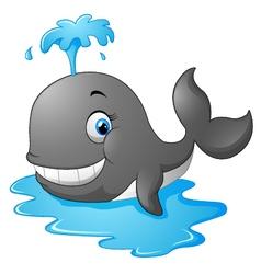 Happy cartoon whale vector