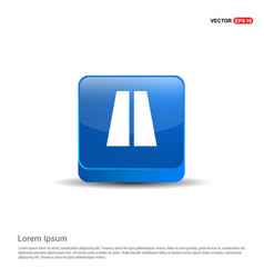 Highway icons - 3d blue button vector