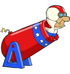human cannonball vector image