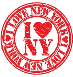 I love New York stamp vector image