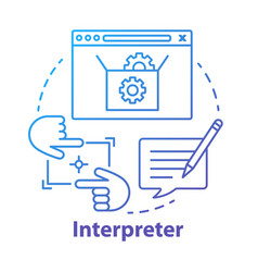 Interpreter concept icon help and support center vector